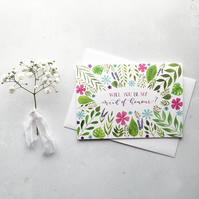 Will You Be My Maid Of Honour? Card,Maid Of Honour Proposal Card