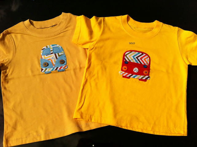 Cool Original Camper Appliqued T-shirts 18 to 24 months
