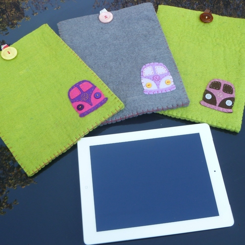 VW Splitscreen Campervan ipad, Kindle or tablet Cases