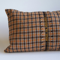 England Tweed Bolster Cushion