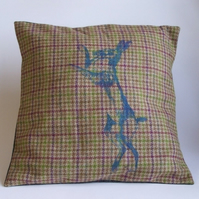 Printed Tweed Cushion