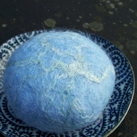 Large Felted Soap - Sky Blue