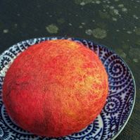 Large Felted Soap - Ruby Red