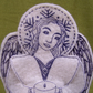 'Angelika' Heirloom Printed Felt Angel