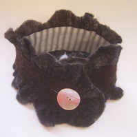 Ruffle Collar Scarf Small