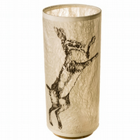 Slim Hare Felt Lampshade (Right facing)