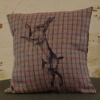 Printed Tweed Cushion Cover