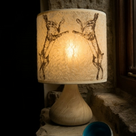 Medium Boxing Hare Felt Lampshade