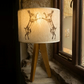 Large Boxing Hare Felt Lampshade