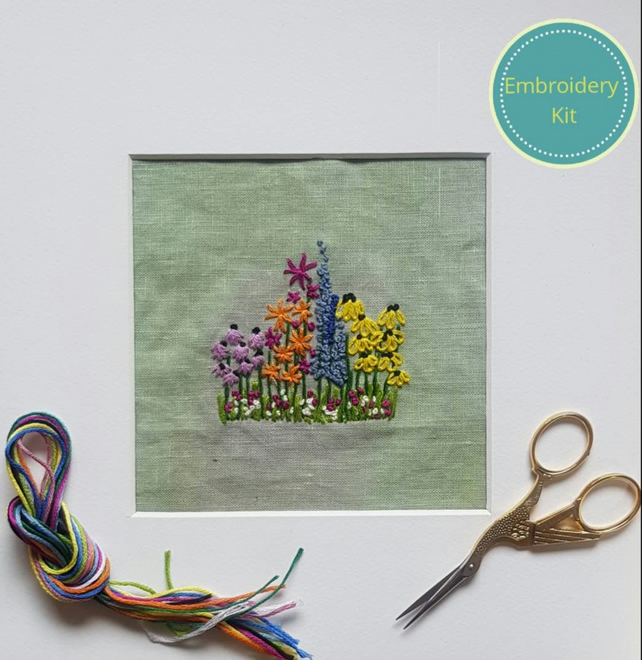 Embroidery Kit Flowers in the Garden