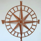 Compass - Outdoor Metal Wall Art - Copper Finish - Weatherproof