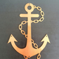 Anchor - Outdoor Metal Art - Copper Finish - Weatherproof