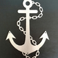 Anchor - Outdoor Metal Wall Art - Silver Finish - Weatherproof