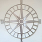 Compass - Outdoor Metal Wall Art - Silver Finish - Weatherproof