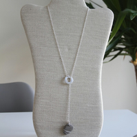 Lariat Pebble Necklace