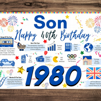 40th Birthday Card For SON