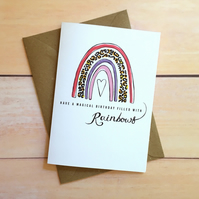 Rainbow card Have a magical birthday filled with rainbows Greetings card Blank i