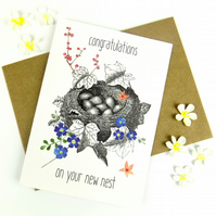 New Home Card, Cute Bird Housewarming Card