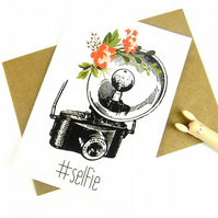 Selfie Blank Greeting Card