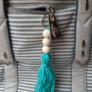 Beaded tassel keychain