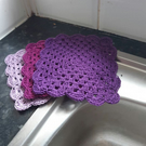 100% cotton crochet wash cloths Dish cloths 3 pack. Re usable eco friendly