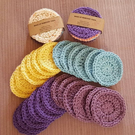 100% cotton reusable face pads. 6 packs. Great for removing make up.