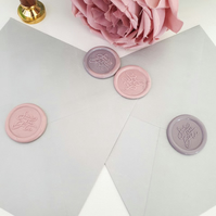 Save The Date Wax Seals- Dusky Pink- Mauve- Peel and Stick
