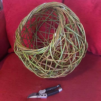 Funky Sculpted Willow Basket