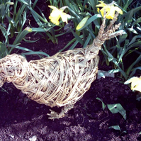 Chicken Sculpture, Garden Willow Decorative art