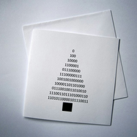 Happy Christmas - binary code greeting card - geek