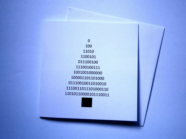 Merry Christmas - binary code greeting card - geek