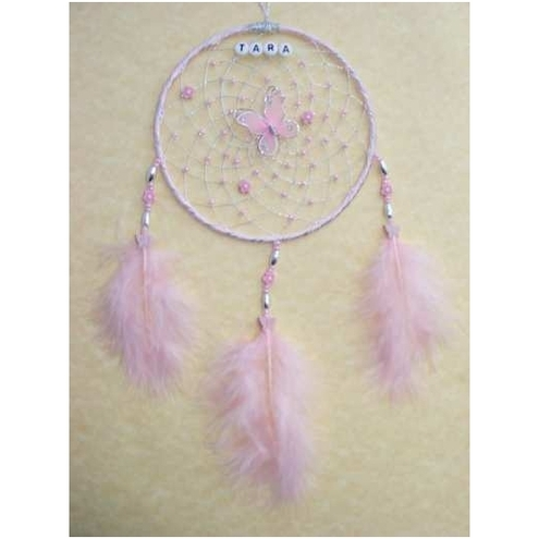 Personlised Pink Butterfly Dream Catcher