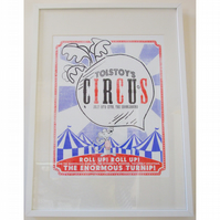 The Enormous Turnip Three-Colour Hand Pulled Screenprint
