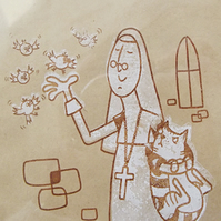 A Lesson From Reverend Mother - Gocco Print