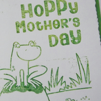 Mamma Frog Gocco Mother's Day Card