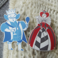 King and Queen Brooches