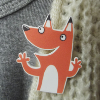 Cheeky Fox Brooch