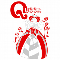 Q is for Queen Limited Edition Screenprint