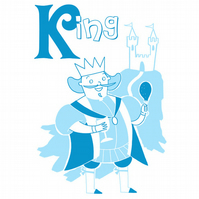 K is for King Limited Edition Screenprint