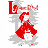 L is for Little Red Limited Edition Screenprint