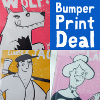 WANTED, NEEDED and MISSING Screen Prints Bumper Deal!