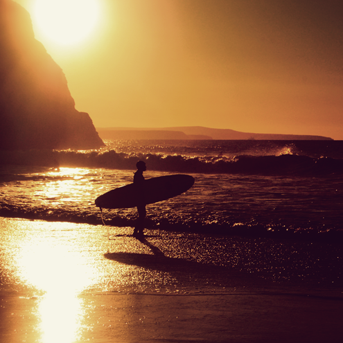 "Sunset Surf Photographic Print 12""x8"""