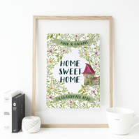 Personalised New Home Print - Housewarming GIft