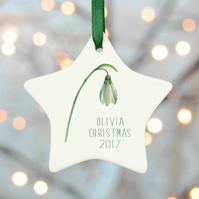 Snowdrop Christmas Tree Decoration - Botanical Range
