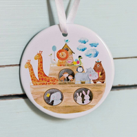 Personalised Baptism or Christening  Gift for Children. Noah's Ark Range 2