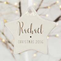 Personalised Name Christmas Decoration