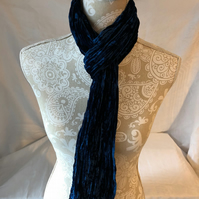 Double Velvet Scarf in Indigo by Lady Crow