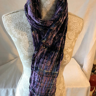 Tartan Velvet Scarf in Thistle by Lady Crow