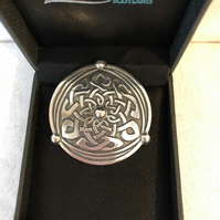 Lady Crow Pewter Celtic Brooch in Presentation Box