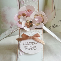 Cherry Blossom Happy Birthday Pop Up Box Card